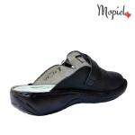 papuci medicinali din piele naturala negrii, Mopiel.ro