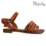 sandale Sandale dama din piele naturala Geo/25018/rosu portocaliu 1 150x150