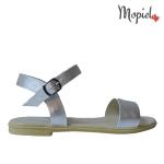 sandale Sandale dama din piele naturala Dana/alb/gri sandale dama din piele naturala cu catarama interior din piele naturala Mopiel