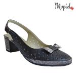 sandale dama din piele naturala cu fundita, Mopiel.ro