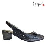 sandale Sandale dama din piele naturala Mimi/negru/croco sandale dama din piele naturala cu fundita interior din piele naturala Mopiel