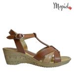 sandale Sandale dama din piele naturala 656/maro sandale dama din piele naturala cu paltforma si catarama interior din piele naturala Mopiel