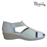 sandale Sandale dama din piele naturala Nela/25637/alb sandale dama din piele naturala pantofi dama din piele naturala Mopiel