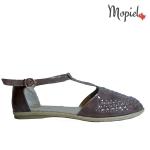 sandale Sandale dama din piele naturala 23508/lac/taupe/1/Beata sandale dama din piele naturala pantofi dama din piele naturala Mopiel