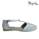 sandale Sandale dama din piele naturala 23508/alb/rombat/Beata sandale dama din piele naturala pantofi dama din piele naturala balerini dama Mopiel