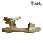 sandale Sandale dama din piele naturala 25623/auriu/sinem sandale dama din piele naturala pantofi dama din piele natutala Mopiel