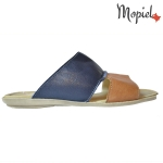 Papuci din piele naturala Sebi/16600/maro 16603 maro blu 1 150x150