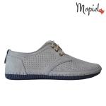 Pantofi din piele naturala Nicolas/500 gri nisip 1w 150x150