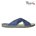 Papuci barbatesti din piele naturala Liviu/7711/albastru Papuci barbatesti din piele naturala interior din piele naturala Mopiel 1 150x150