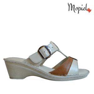 Papuci dama din piele naturala cu toc, interiorul este captusit cu piele naturala, Mopiel.ro
