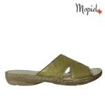 Sandale din piele naturala 25313/negru Papuci dama din piele naturala interiorul este captusit cu piele naturala Produs fabricat in Romania Mopiel