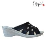 Sandale din piele naturala Doly/25011/fuxia Papuci dama din piele naturala u toc interiorul este cpatusit cu piele naturala Mopiel