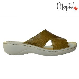 Papuci-dama-mustar-din-piele-naturala-Mopiel.ro-perforati