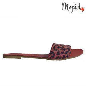 Papuci-dama-tigrat-rosu-Mopiel.ro-din-piele