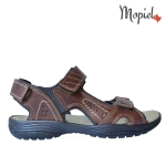 Pantofi din piele naturala Nicolas/500 gri nisip Sandale barbatesti din piele naturala cu scai interior din piele naturala Mopiel
