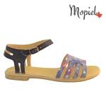 Sandale din piele naturala Oana/25520/albastru Sandale dama din piele naturala Mopiel