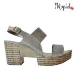 sandale Sandale dama din piele naturala Ana/185/auriu Sandale dama din piele naturala ci catarala si talpa inalta interior din piele naturala Mopiel