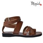 sandale Sandale dama din piele naturala Moly/7/maro Sandale dama din piele naturala cu catarama pe glezna interior din piele naturala Mopiel