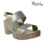 Sandale dama din piele naturala cu catarama si talpa inalta, Mopiel.ro