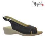 Papuci din piele naturala Norina/2642/camel Sandale din piele naturala Mopiel