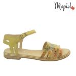 Sandale din piele naturala Oana/25520/verde/bej Sandale galbene din piele naturala Mopiel 1 150x150