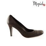 pantofi Pantofi dama din piele naturala 144/negru pantofi dama din piele naturala cu toc Mopiel