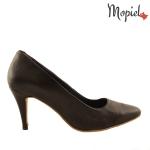 Pantofi din piele naturala 24300/negru pantofi dama din piele naturala cu toc interiorul este captusit cu piele naturala Mopiel