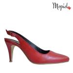 sandale Sandale dama din piele naturala Livia/25634/np/croco/maro pantofi dama din piele naturala cu toc si cu catarama interior din piele naturala Mopiel