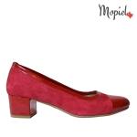 pantofi dama - pantofi dama din piele naturala intoarsa Mopiel - Pantofi dama din piele naturala 603/T/Visiniu
