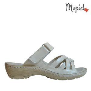 papuci dama din piele naturala cu scai, interior din piele naturala, Mopiel.ro