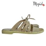 papuci Papuci dama din piele naturala Sinem/26701/alb/perf papuci dama din piele naturala cu siret Interior din piele naturala Mopiel