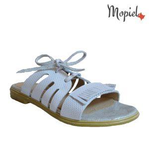 acasa Acasa papuci dama din piele naturala cu siret Mopiel