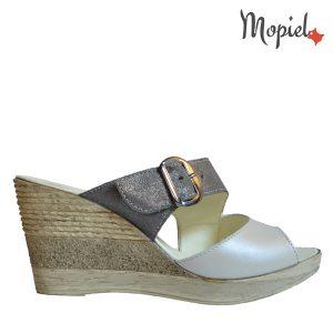 papuci dama din piele naturala cu talpa ortopedica, interior din piele naturala, Mopiel.ro