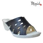 papuci dama din piele naturala cu toc, Mopiel.ro