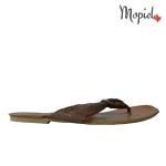 Papuci din piele naturala Mada/26302/maro/bronz papuci dama din piele naturala interior din piele naturala Mopiel