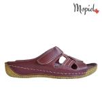 papuci Papuci dama din piele naturala Nella/visin papuci dama din piele naturala interior din piele naturala Mopiel