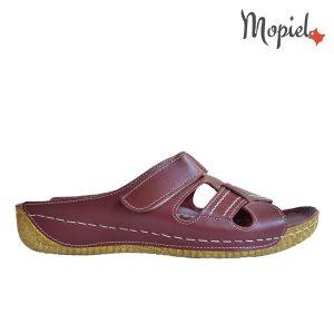 papuci dama din piele naturala, interior din piele naturala, Mopiel.ro
