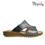Papuci din piele naturala Stef/26500/gri papuci dama din piele naturala interiorul este captusit cu piele naturala produs fabricat in Romania Mopiel