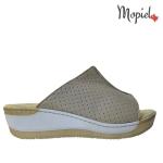 Papuci din piele naturala 26600/taupe papuci dama din piele naturala interiorul este captusit cu piele naturala produs fabricat in Romania Mopiel