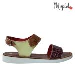 Papuci din piele naturala 26600/taupe sandale dama din piele naturala cu catarama interior din piele naturala Mopiel 150x150