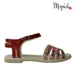 Sandale din piele naturala Oana/25520/maro/galben sandale dama din piele naturala cu catarama interior din piele naturala Mopiel