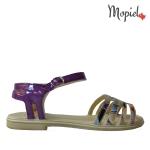 papuci Papuci dama din piele naturala Lia/bej sandale dama din piele naturala cu catarama interior din piele naturala Mopiel