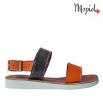 sandale Sandale dama din piele naturala Moly/3/rosu/albastru sandale dama din piele naturala cu catarama interior din piele naturala Mopiel