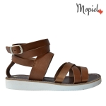 sandale Sandale dama din piele naturala Moly/7/maro sandale dama din piele naturala cu catarama interior din piele naturala Mopiel