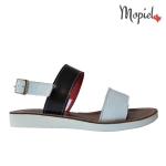 sandale Sandale dama din piele naturala Moly/9/alb/negru sandale dama din piele naturala cu catarama interior din piele naturala Mopiel