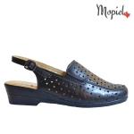 sandale Sandale dama din piele naturala Moly/11/roz/negru sandale dama din piele naturala cu catarama interior din piele naturala Mopiel