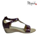 Balerini dama din piele naturala 23202/rosu/Amalia sandale dama din piele naturala cu catarama interior din piele naturala Mopiel