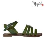 Sandale dama din piele naturala Geo/25024/verde sandale dama din piele naturala cu catarama interior din piele naturala Mopiel