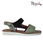 sandale Sandale dama din piele naturala Moly/9/alb/negru sandale dama din piele naturala cu catarama interiorul este captusit cu piele naturala Mopiel