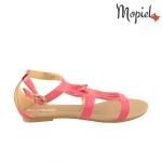 Sandale din piele naturala Oana/25520/mov sandale dama din piele naturala cu frnajuri interior din piele naturala Mopiel